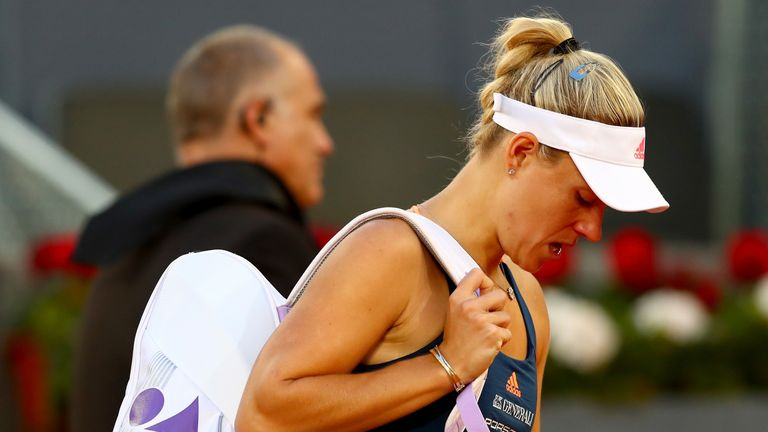 Angelique Kerber could not hide her disappointment at not playing on a show court