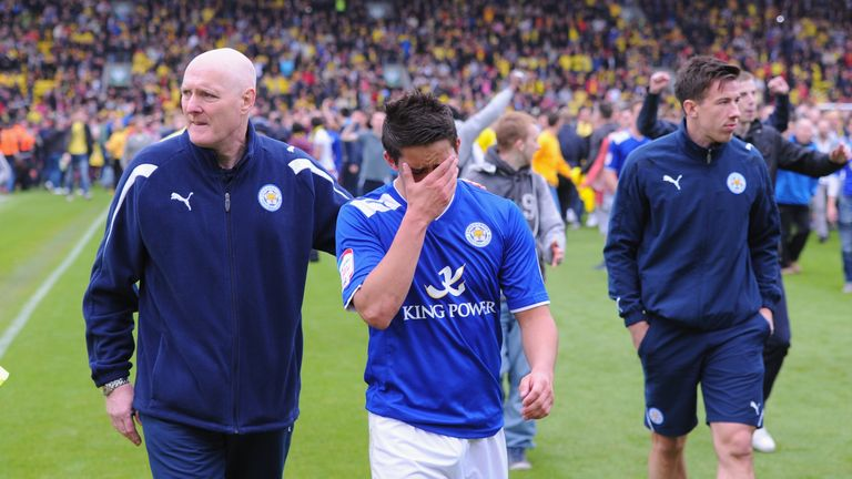 Anthony Knockaert shows his disappointment after Leicester's defeat