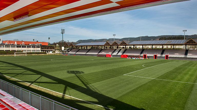 One of the training pitches at Athletic's Lezama headquarters