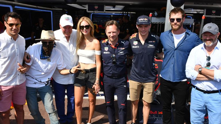 Dan Carter, Alec Monopoly, TAG Heuer's Jean-Claude Biver, blogger Chiara Ferragni, Christian Horner, Max V, actor Chris Hemsworth and Philippe Etchebest