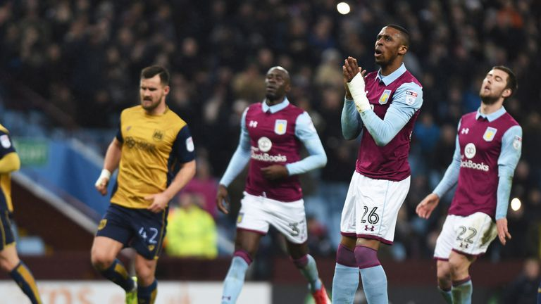 Jonathan Kodjia misses out with a broken ankle for Aston Villa.