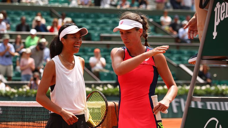 Johanna Konta crashed out of the French Open in the first round after suffering a shock defeat to Hsieh Su-Wei