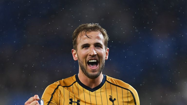 Harry Kane scored four goals for Spurs against Leicester