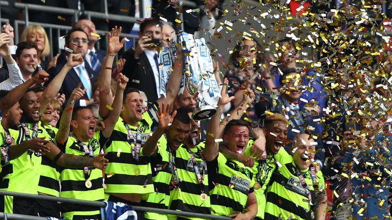 Huddersfield Town were promoted via the play-offs last season