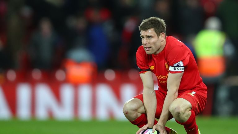 James Milner says Liverpool would feel sick if they failed to secure a top-four finish