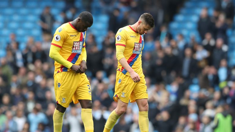 Palace suffered a 5-0 thrashing at the hands of Manchester City last time out