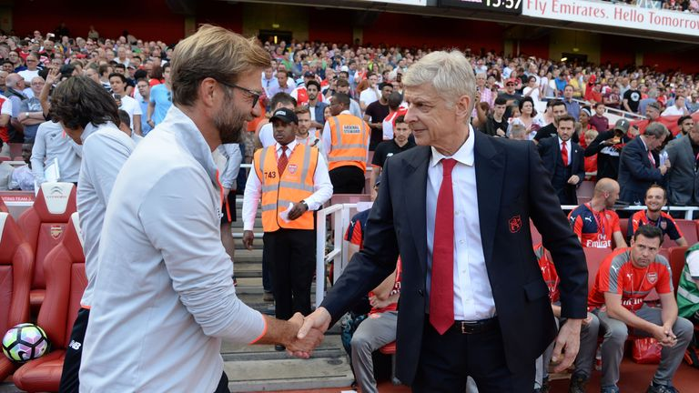 Jurgen Klopp says Arsene Wenger is a big manager in the history of football