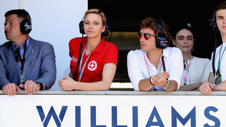Princess Charlene of Monaco watched qualifying at Williams
