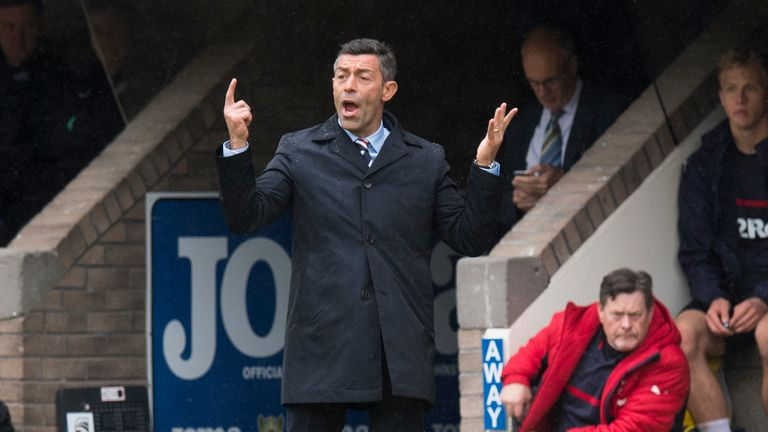 Pedro Caixinha's side suffered a behind-closed-doors defeat to St Johnstone