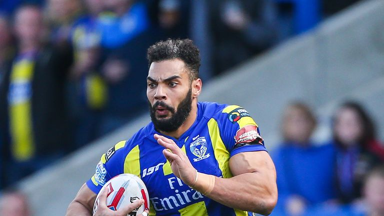 Warrington centre Ryan Atkins scored a try in both halves