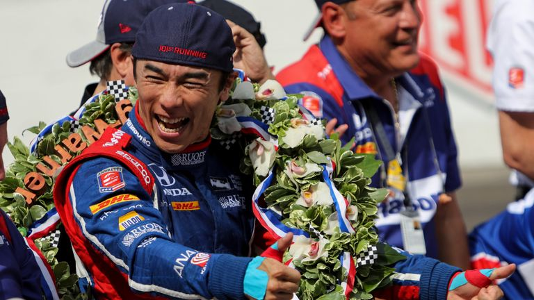 Takuma Sato won the 2017 Indy 500