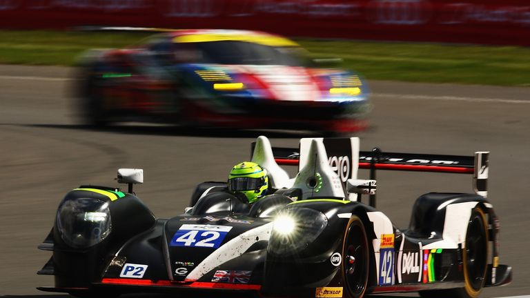 Watts at the wheel of the Strakka Racing Gibson Nissan during the FIA World Endurance Championship Six Hours of Silverstone race in April 2016