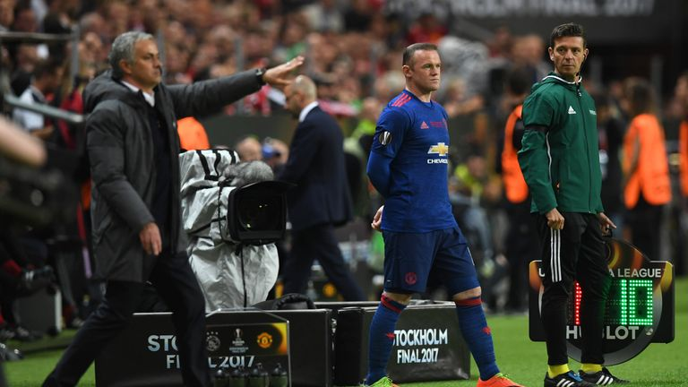 Rooney came on in the final minute of United's 2-0 win over Ajax