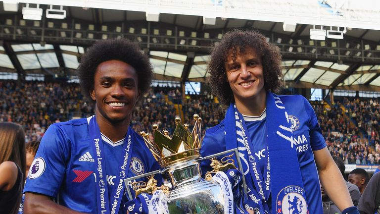 Willian picked up his second Premier League winner's medal with the Blues on the final day