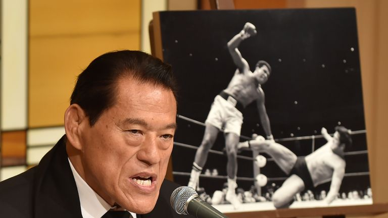 Antonio Inoki paid tribute to Muhammad Ali following his passing