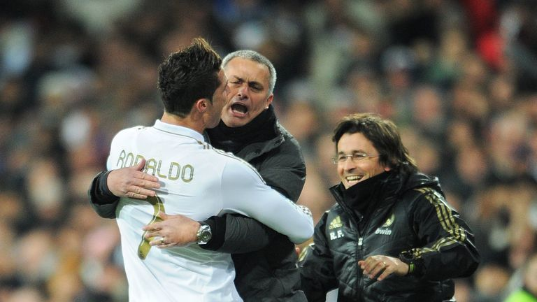 Mourinho has described Ronaldo as 'a goalscoring machine' following his achievements at Real Madrid
