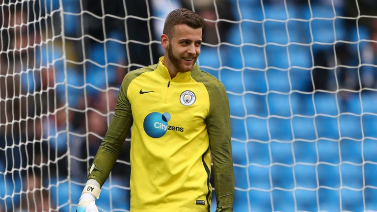 Angus Gunn is back at Manchester City after a spell with Norwich