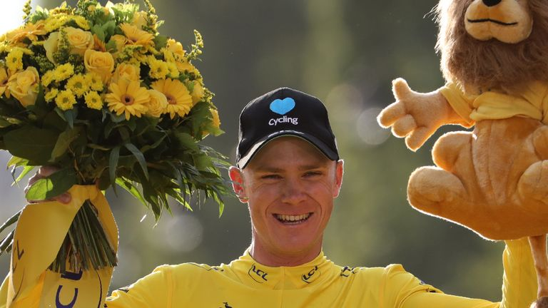 Chris Froome collected his third Tour de France trophy in Paris last summer