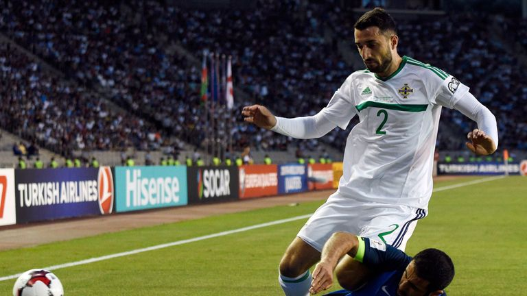 Conor McLaughlin was lively in the second half for Northern Ireland