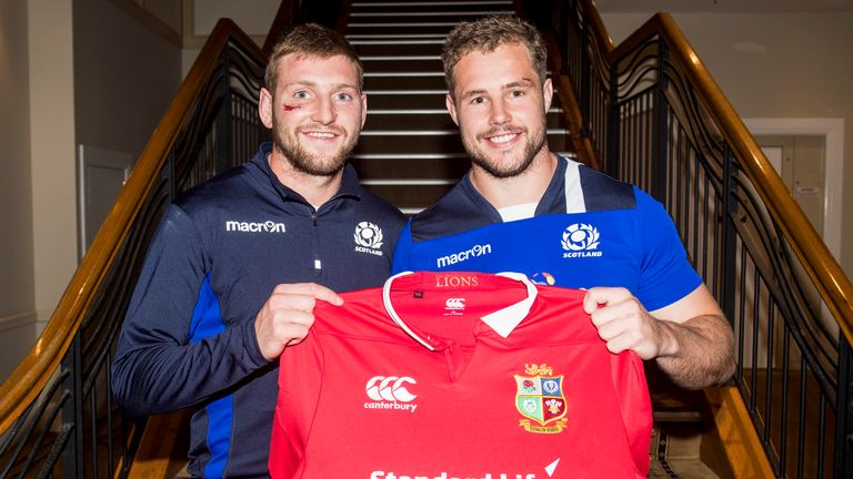 Scotland's Finn Russell (left) and Allan Dell have been drafted in to the British & Irish Lions set-up