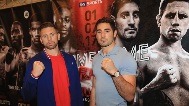 Ricky Summers (left) has vowed to rip the British belt from Frank Buglioni this Saturday night, live on Sky Sports