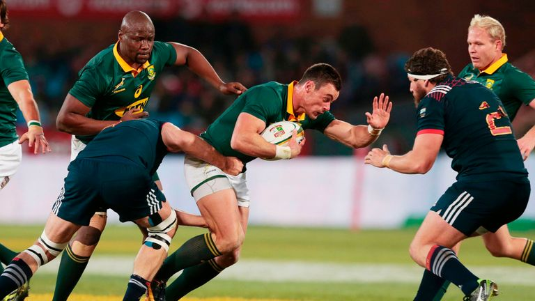 Jesse Kriel scored one of South Africa's four tries against the French