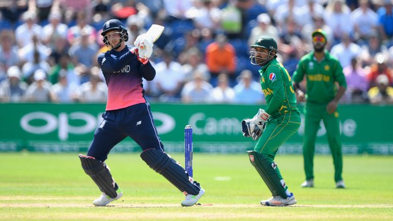 Joe Root top-scored for England in their Champions Trophy semi-final defeat to Pakistan