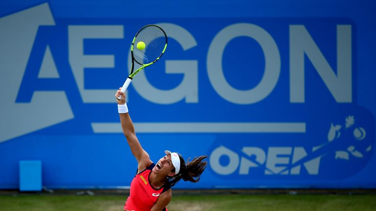 Konta is targeting her first WTA title on home soil