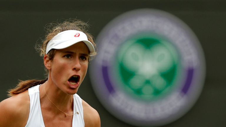 Johanna Konta was defeated by Eugenie Bouchard in their second-round Wimbledon match in 2016
