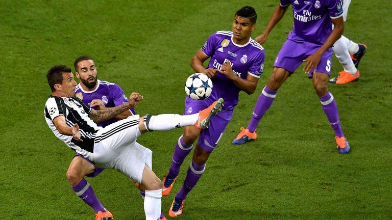 Mario Mandzukic scored a wonderful goal for Juventus against Real Madrid