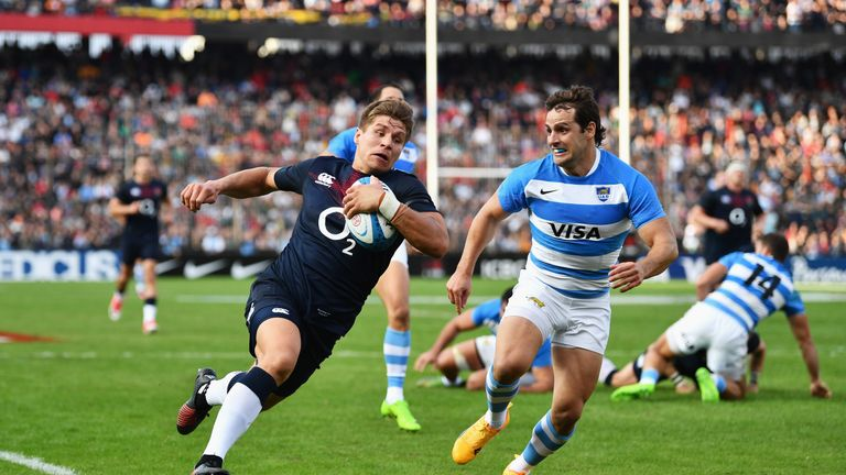 England will face Argentina, Australia and Samoa in this year's November internationals