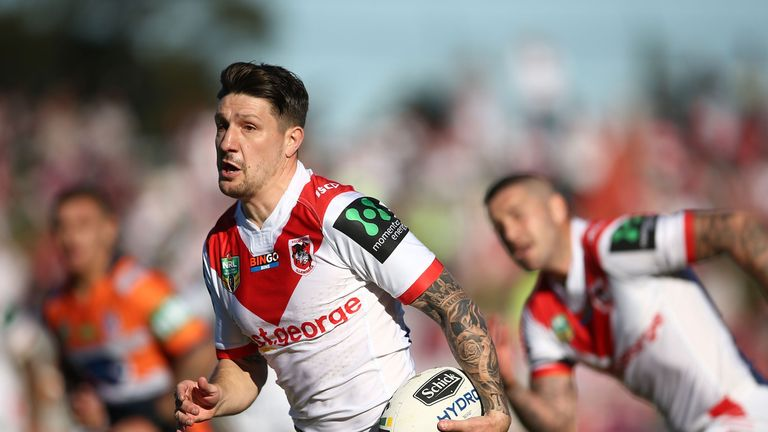 Gareth Widdop led the Dragons to a comeback win over the Knights
