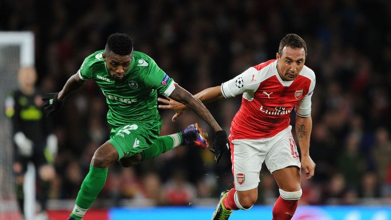 Santi Cazorla's last appearance for Arsenal came against Ludogorets in October