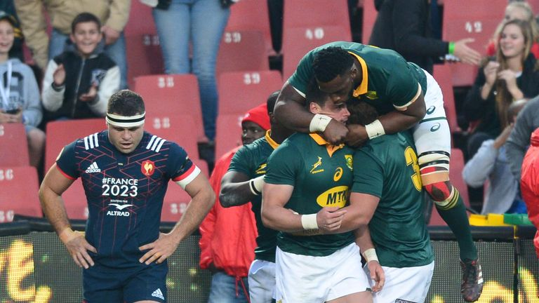 Tries from Jesse Kriel, Eben Etzebeth, Malcolm Marx and Rudy Paige secured a first ever series whitewash over France for the Boks