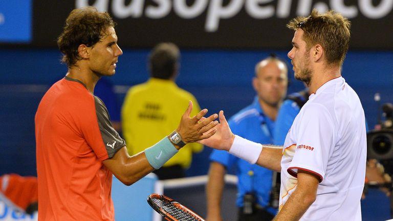 Stan Wawrinka (right) beat Rafael Nadal to win the 2014 Australian Open