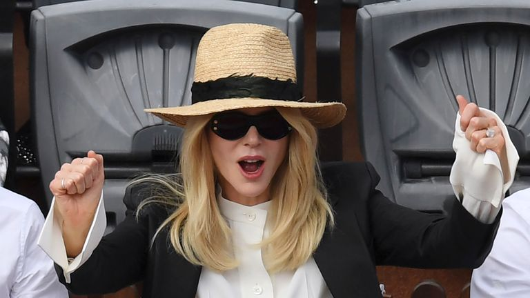 Actress Nicole Kidman attended the French Open final
