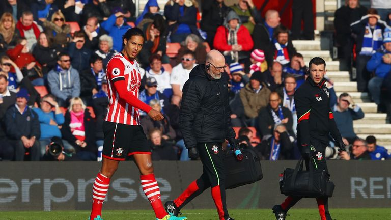 Virgil van Dijk 's season was cut short in January when he suffered an injury
