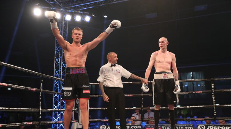 Warren Baister received a second round stoppage victory