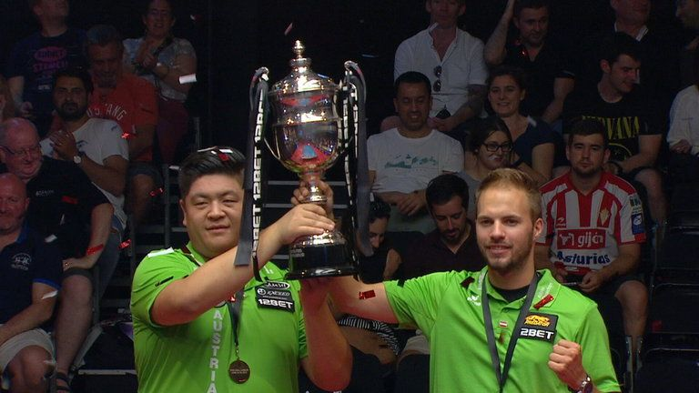Austrian pair Albin Ouschan and Mario He are defending World Cup of Pool champions