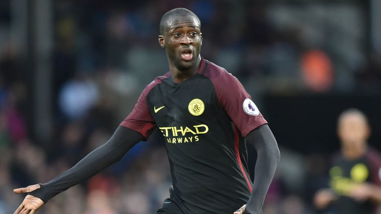 Yaya Toure has six months left on his Manchester City contract