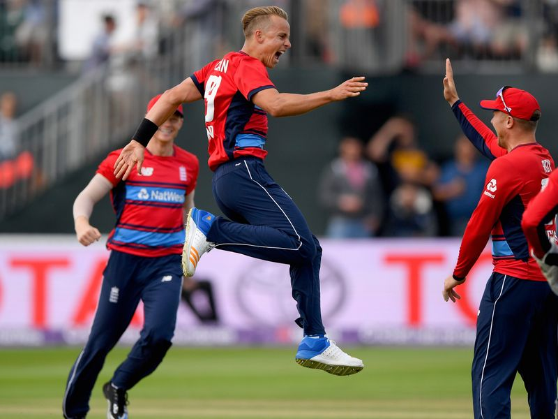Earlier, Tom Curran took his first international wicket as the tourists made 174. It proved to be enough - just