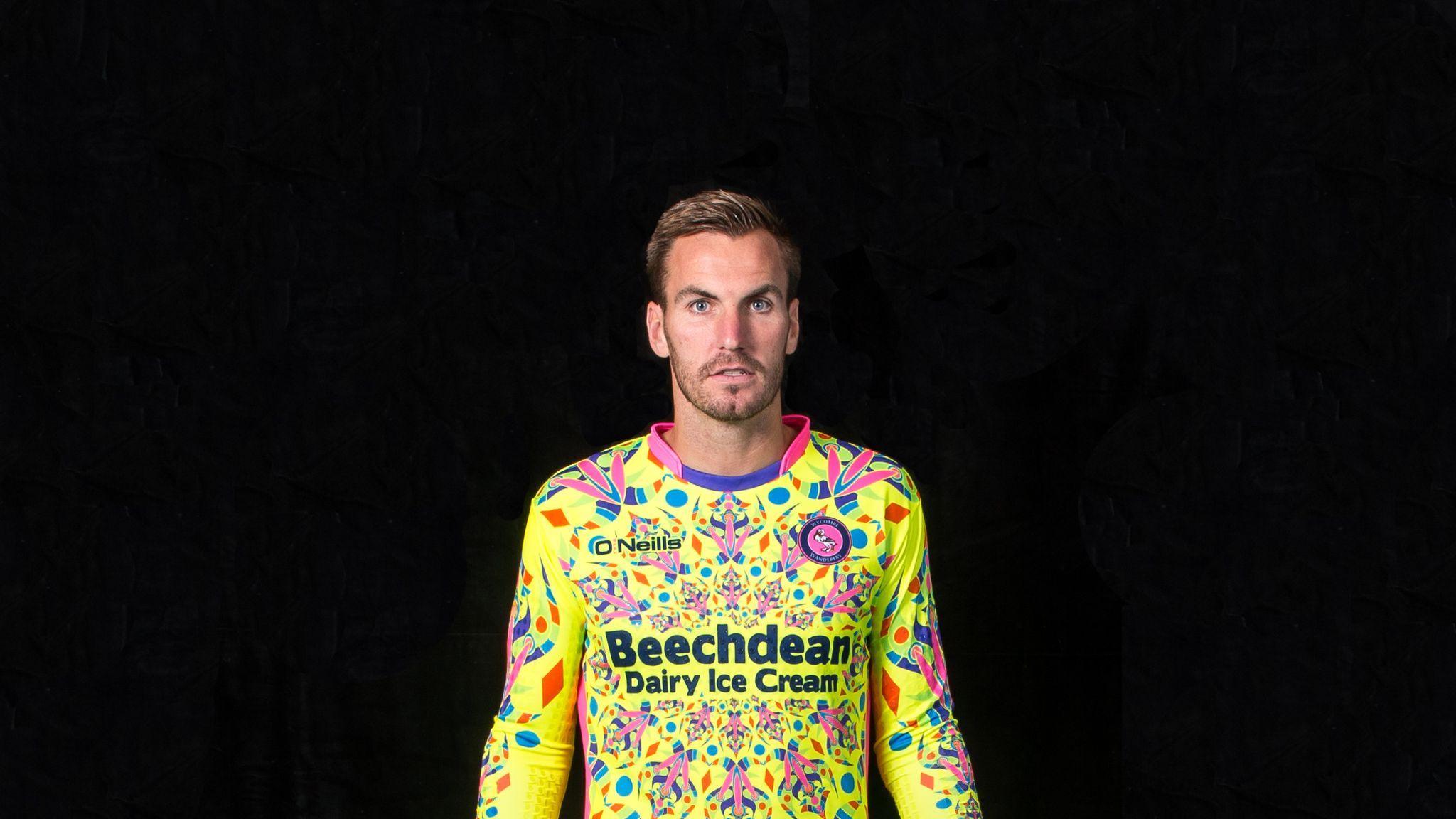 c66bab03f24 Wycombe Wanderers launch eye-catching goalkeeping kit with 'disruptive  magic-eye effect' | Football News | Sky Sports