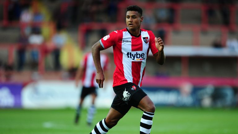 Watkins made the breakthrough in League Two with Exeter