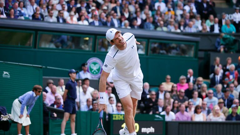 Murray hasn't played a competitive match since losing to Sam Querrey in the Wimbledon quarter-finals last year
