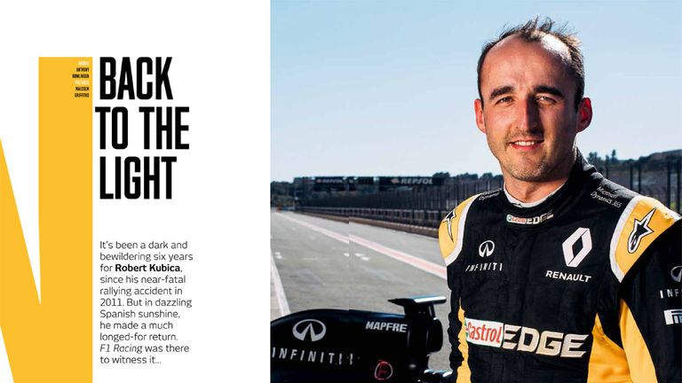 Anthony's feature on Robert's return features in the latest edition of F1 Racing magazine