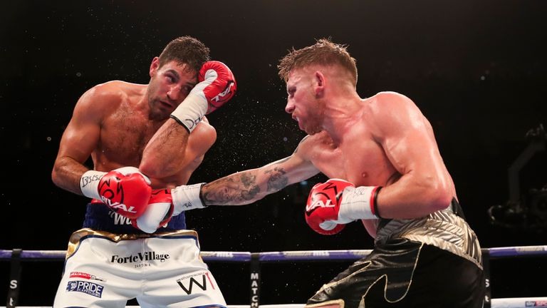 Both boxers were hurt by body shots during the British title clash
