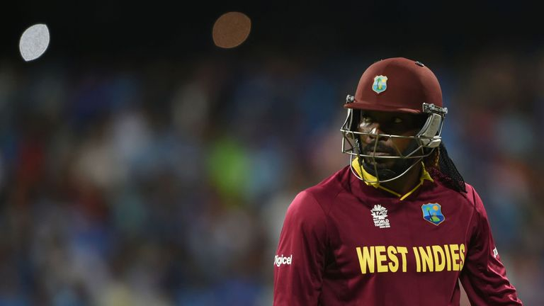 Chris Gayle scored 18 on his West Indies comeback