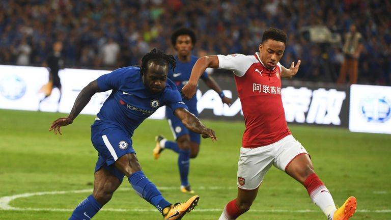 Willian scored Chelsea's first as they dominated the first half