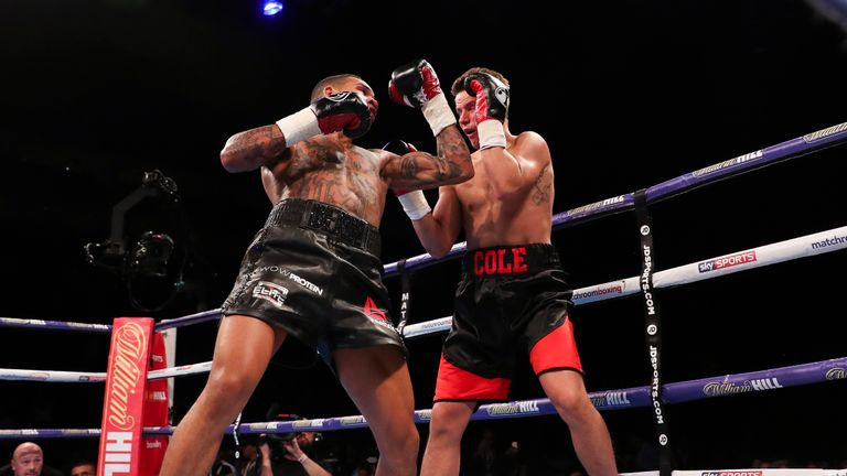 Mike Cole put up a valiant attempt but could not handle the power and speed of Conor Benn