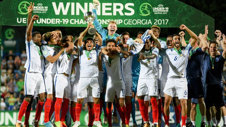 England U19s won the 2017 European Championships after beating Portugal 2-1